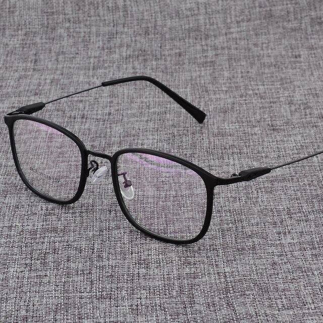سبيكة النظارات الإطار الرجال أو النساء خفيفة مربع قصر النظر وصفة طبية النظارات الذكور المعادن إطار بصري نظارات D825