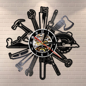 Garage Tools Wall Clock