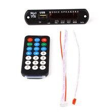Bluetooth MP3 Player With SD Card Slot/USB/FM Decoder Board 5V 12V Audio Module Remote Decoding Board USB TF FM Radio For Car цена 2017