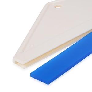 Image 4 - FOSHIO 5PCS 가정용 청소 유리 스크레이퍼 워터 와이퍼 창 Tinting 앞 유리 고무 블레이드 스퀴지 비닐 포장 자동차 도구
