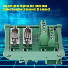 conector DB9-G6 Double Male Head DIN Rail Mount Interface Module Terminal Block Board Solderless Wire Terminal dip 32 component to screw terminal adapter board w hq din rail mount carrier