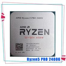 AMD Ryzen 5 פרו 2400G R5 פרו 2400G 3.6 GHz Quad Core Quad חוט 65W מעבד מעבד YD240BC5M4MFB שקע AM4