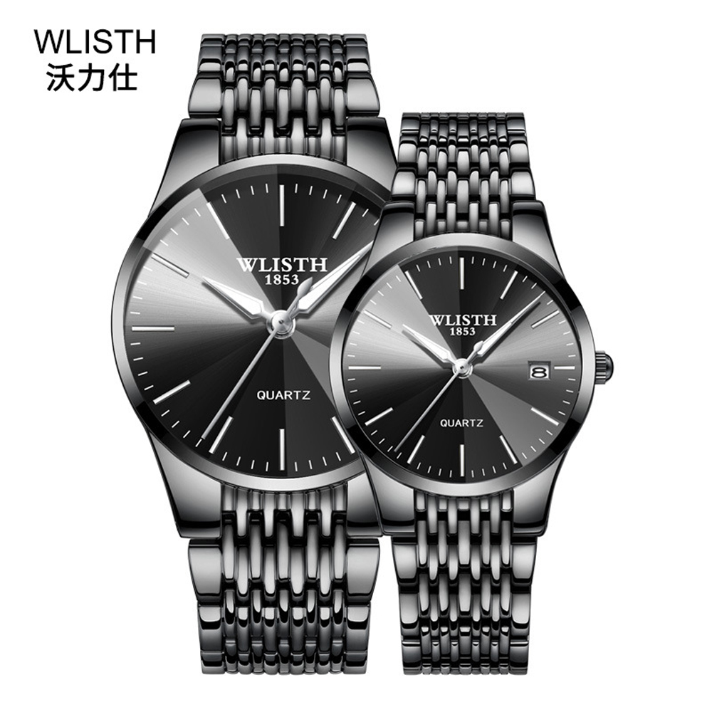 Couple Watches For Lovers Quartz Wristwatch Fashion Luxury Steel Comfortable Band 30M Waterproof Watch For Men And Women Watches