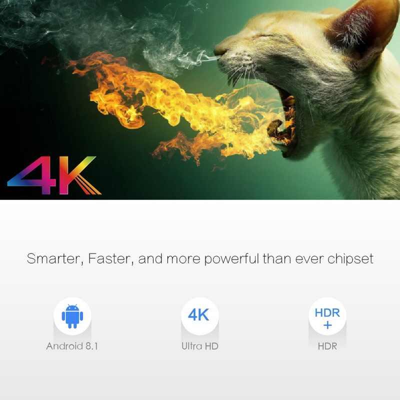 X96 Max Smart Box Android 8.1 S905X2 TV Box Smart 4K lecteur multimédia 2/4 + 16 GB/32 GB/64 GB décodeur intelligent