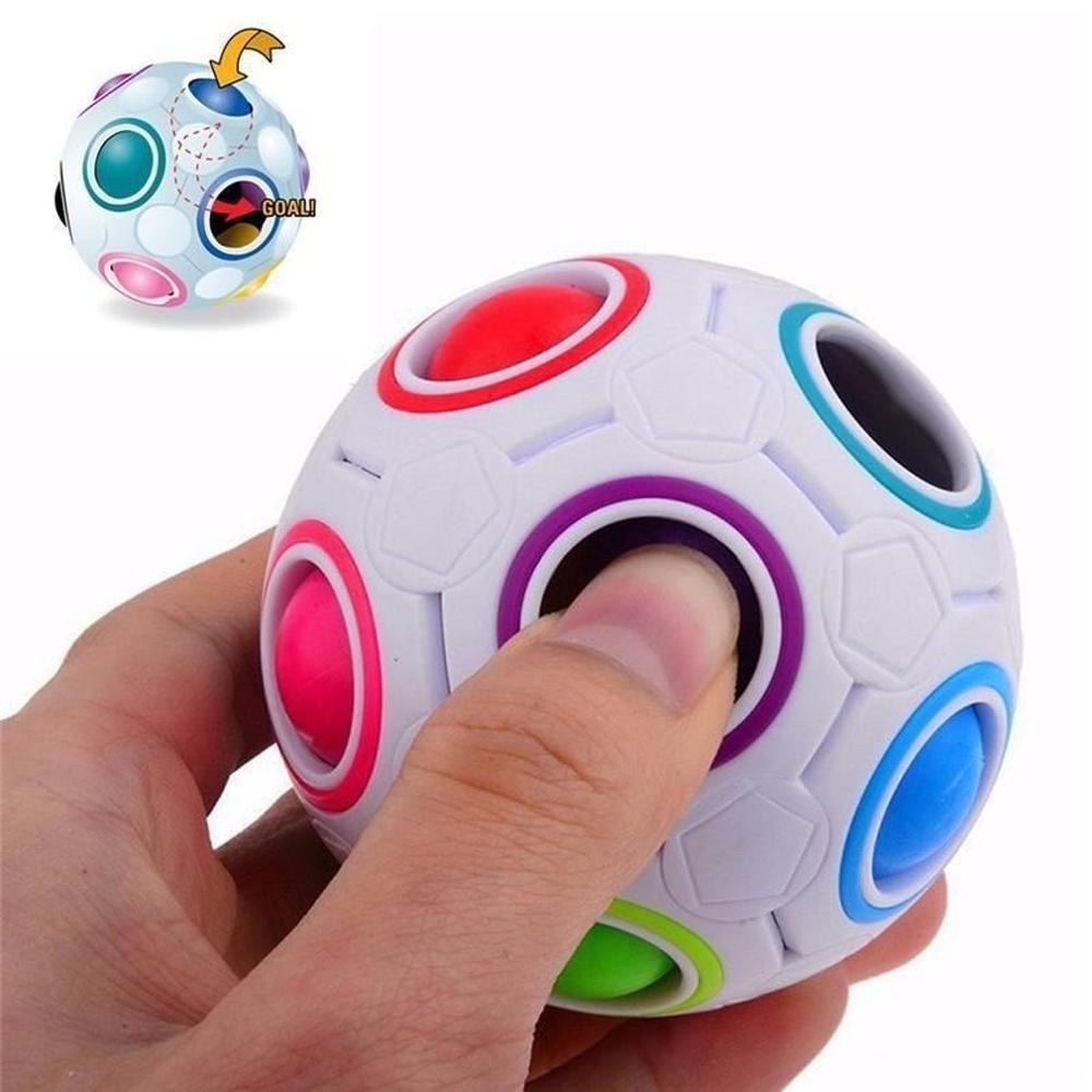 20 delik sihirli gökkuşağı bulmaca Fidget topları игрушки DIY mıknatıs manyetik topları blokları küp inşaat yapı oyuncaklar juguetes par