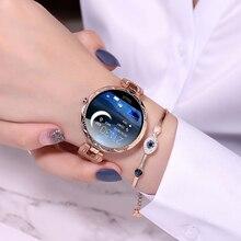 Moda feminina relógio inteligente à prova dwaterproof água wearable dispositivo monitor de freqüência cardíaca esportes smartwatch para senhoras