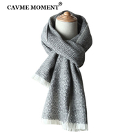 CAVME Cashmere Scarf for Men Unisex Scarves Long Scarf 100% Cashmere Soft Gift for Homme 32*200cm 135g