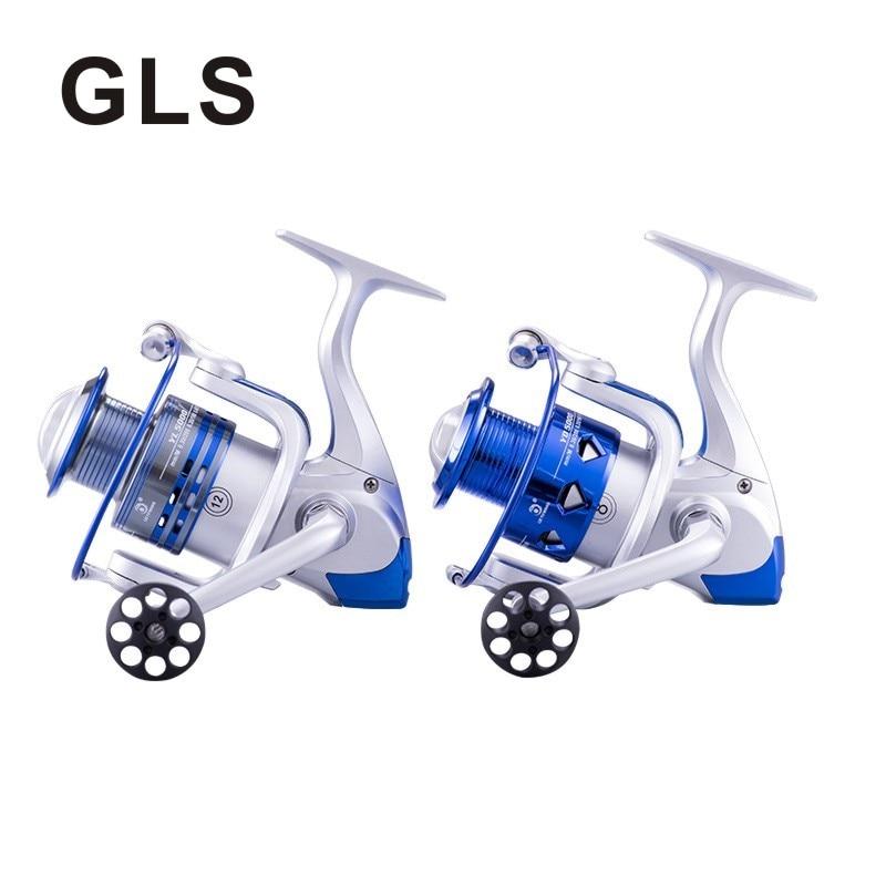 GLS marka metal tel fincan, rocker kol, ana şaft, sol/sağ değiştirilebilir iki seçenek, hiçbir boşluk çıkrık balıkçılık reel