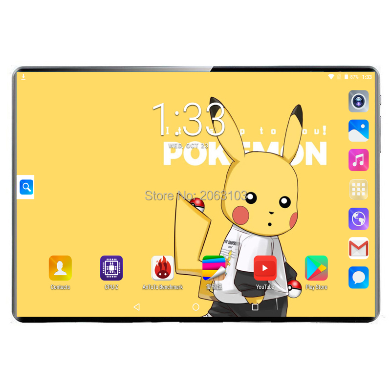 Android 9.0 GPS Tablet 10 Inch Tablet Deca Core 3G 4G FDD LTE Phone Call 8GB RAM 128GB ROM Dual SIM 8.0MP Wifi Bluetooth + Gift