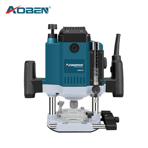 AOBEN Woodworking Electric Trimmer Router 1800W Trimmer Machine 1/2 Collet Chuck Hand Carving Machine Wood Router Power Tools(China)