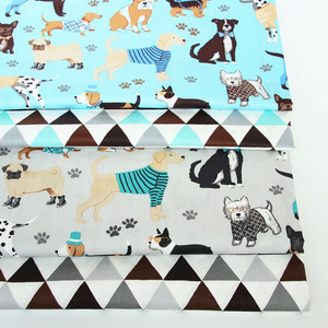 Набор для шитья ткани из саржевого хлопка с рисунком собаки, набор для шитья, стеганое одеяло, ручная работа, простыня, наволочка, скатерть д...