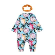 Newborn Baby Boy Girl Clothes Infant Floral Long Sleeve Romper Outfits Ruffle Rompers Baby Autumn Baby Clothes Roupa Menina new arrival party girl baby romper clothes embroidery turkey pattern ruffle newborn clothes matching boy romper gpf803 115