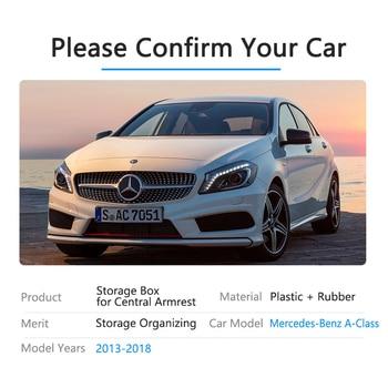 لمرسيدس بنز الفئة أ W176 A180 A200 A220 A250 A45 AMG 2013 ~ 2018 من مسند الذراع صندوق تخزين منظم السيارات اكسسوارات 2015 2017