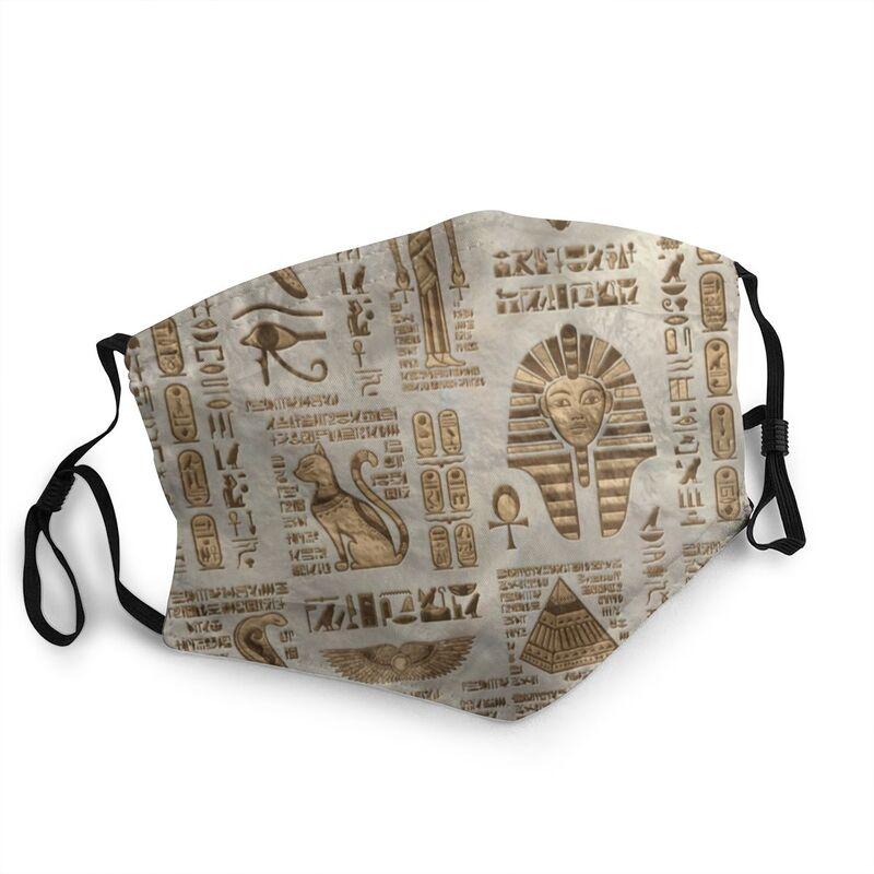 Египетские иероглифы и богов маска для взрослых против дымки пыли костюмы египетского фараона маска защитный респиратор одноразовые рот м...