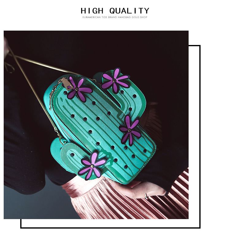 2019 New Style Fashion Creative Cactus Backpack Shoulder Bag WOMEN'S Bag