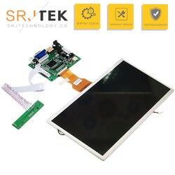 9 Polegada para raspberry pi display lcd tela tft monitor at090tn10 com hdmi vga entrada driver board controlador