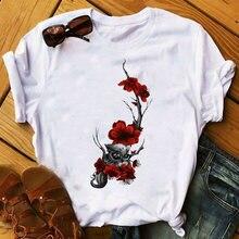 Женский топ эстетическая одежда женские футболки с графическим