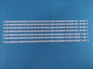 Tira de luz de fundo led 9 lâmpadas para hitachi vestel 50 nnndv rev1.1 panasonic TX-50A300B 50hyt62u VES500UNDC-2D-N01 ves500unda
