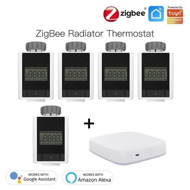 Wifi TRV Radiator inc Zigbee Hub,Voice Controlled Alexa Google Home.