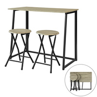 SoBuy®Kitchen Breakfast Bar Set Restaurant Folding Dining Table&Stool OGT18 N