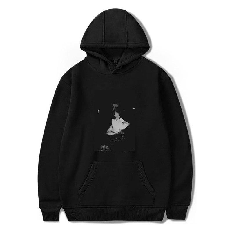 Fashion Harajuku Sad Smoking Girl Print Men's Loose Hoodies Unisex Vintage Hip Hop Casual Sweatshirt Korea Streetwear Wind Hoody