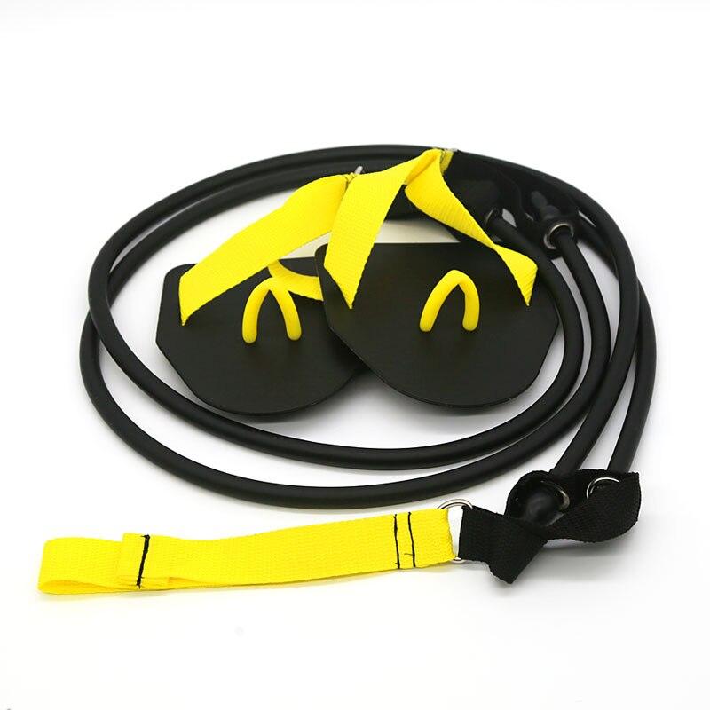 Profissional simulação de natação exercício terra braço força trabalhar fitness resistência banda mão webbed paddle natação forjamento