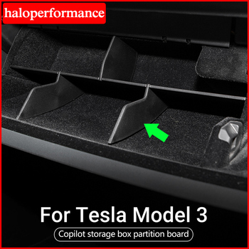 Model3 Tesla Car Copilot Storage Box For Tesla Model 3 Accessories Layered Sorting Board Tesla Model Y Model Three 2017-2020