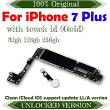 Tarjeta madre Original desbloqueado, compatible con Sistema Ios, actualización, 4G, Lte, Gsm, Wcdma, Chips completos para iPhone 7 Plus, placa base de 5,5 pulgadas