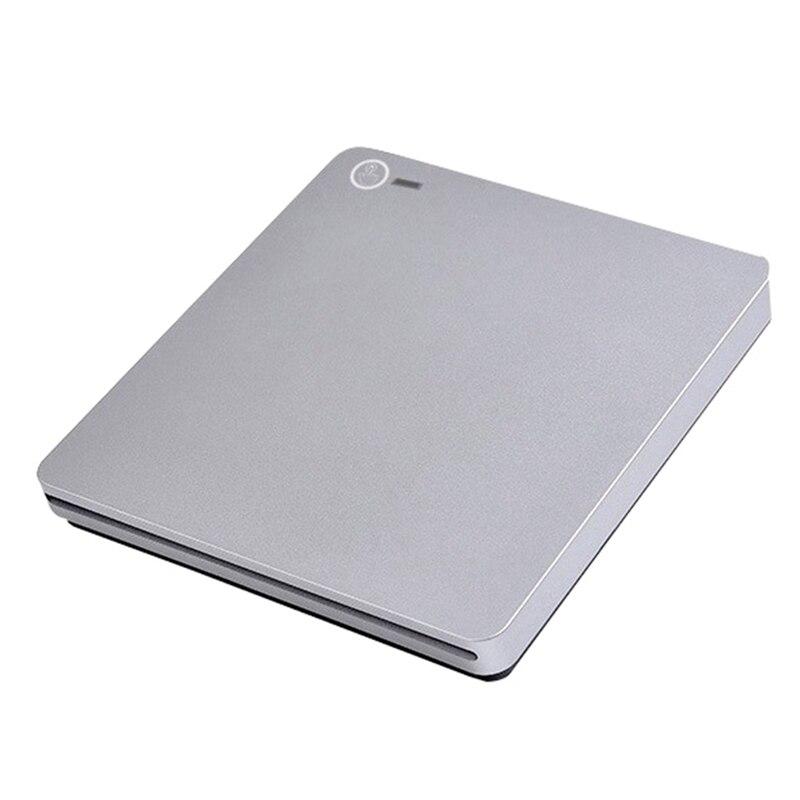 CD/DVD Burner Dual-Port Slot-Loading USB3.0/Type-C External Mobile Optical Drive