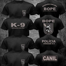 Printed T-Shirt Swat Canil-Unit Police Special Forces Bope K-9 Top-Tee Harajuku Cotton