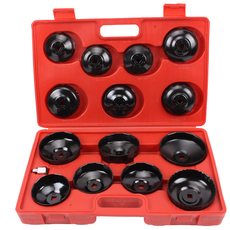 15pcs Cap Type Oil Filter Removal Oil Filter Wrench Fuel Filter Tool