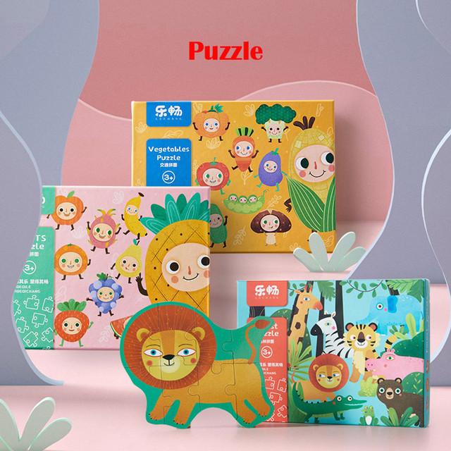 Mały rozmiar maluch Cartoon Puzzle drewniane Puzzle 3D Puzzle Puzzle dla dzieci zabawki edukacyjne Puzzle z motywem zwierzęcym zabawki tanie i dobre opinie HIINST Unisex 3 lat Drewna COMMON Krajobraz Jigsaws Puzzle Wooden kids educational toy set inspire thinking train judgment