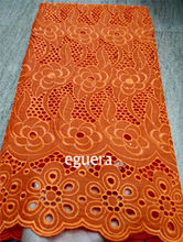 swiss voile lace in switzerland burnt orange lace dubai fabric tissu dentelle coton nigeria lace fabric african material 5yard(China)
