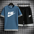 2021 new brand casual quick-drying jogging men's T-shirt + shorts suit summer breathable casual sports running fashion s
