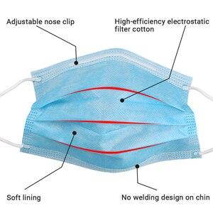 Image 5 - 50pcs נגד זיהום 3 Laye מסכת אבק הגנת מסכות חד פעמי פנים מסכות אלסטי אוזן לולאה חד פעמי אבק מסנן בטיחות מסכה