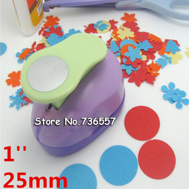 1'' Circle Flower Punch 25mm Diy Craft Hole Puncher Scrapbooking Punches Eva Maker Kids Scrapbook Paper Cutter Embossing Sharper