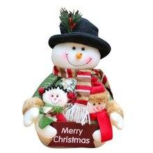 Рождественские украшения куклы Санта-Клаус Дети окна украшения Рождественские принадлежности Дети Рождественские украшения куклы
