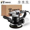DEKO DKSD150J2 450W случайная орбитальная шлифовальная машина наждачной бумагой и гибридный пыли канистра