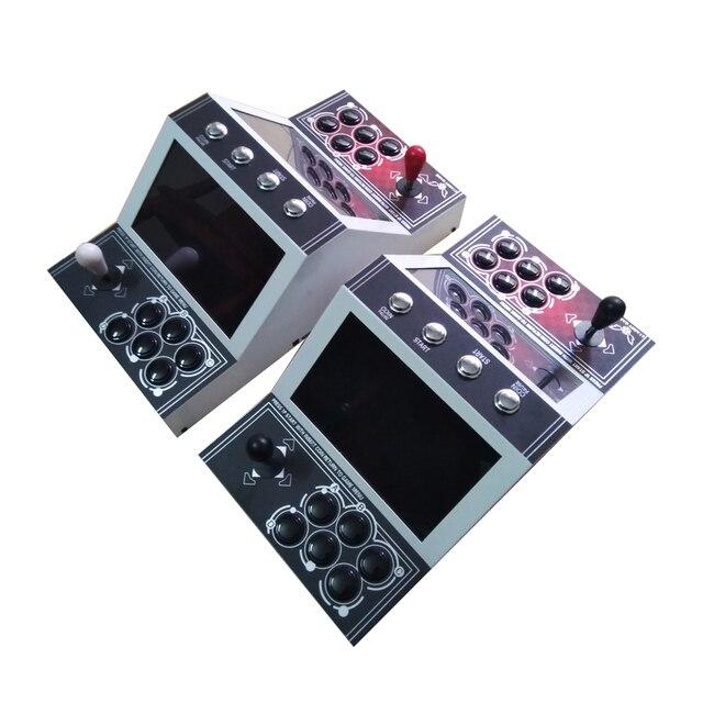 Jeu darcade de bureau daffichage à cristaux liquides de 10 pouces/Mini armoire verticale de table daffichage à cristaux liquides avec le bord de jeu 1300 en 1 et le bouton de joystick et 1, 2 joueurs