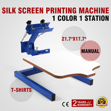 Screen Printing Machine Press 1 Color 1 Station Silk Screen Printing Machine Adjustable Double Spring Devices