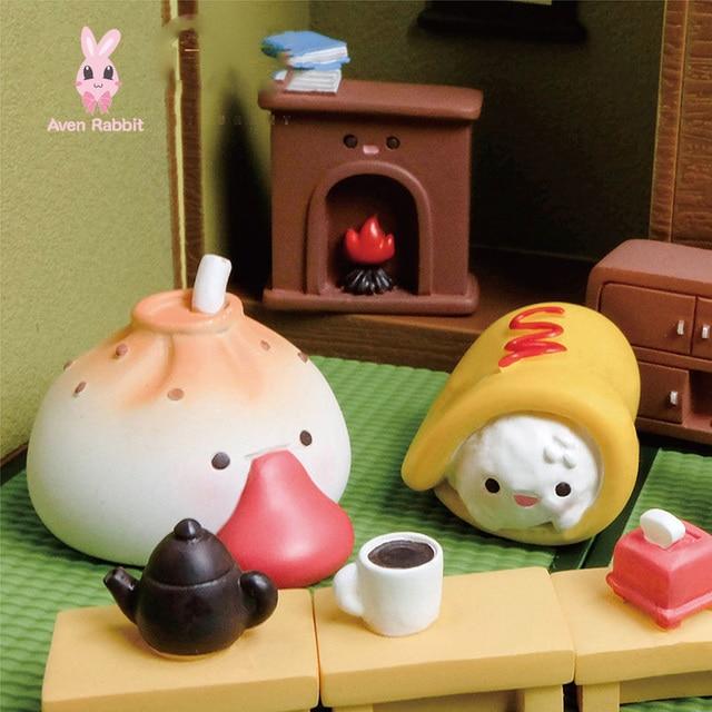 Food Series Blind Box Toys Guess Bag Caja Ciega Blind Bag Toys Anime Figures Cute Food Model Doll Caja Ciega Desktop Ornaments 1