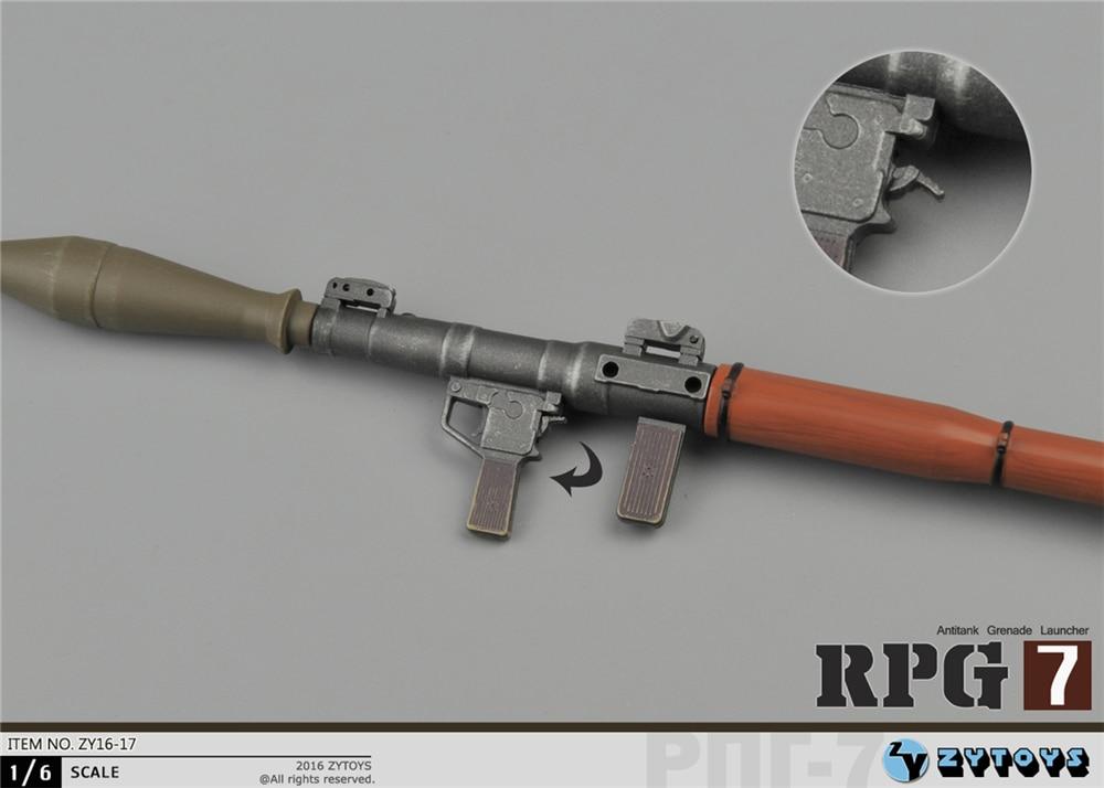 1//6 Rocket Propelled Grenade Antitank Bazooka RPG Weapon Model F 12/'/' Figure