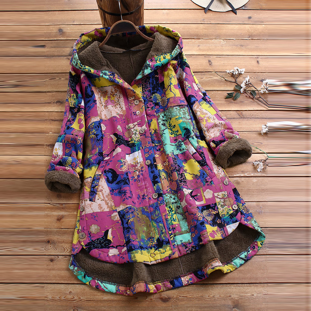 H89896a589852490e9106d9606724287cs MISSOMO Women Thick Fleece Warm Overcoat  Vintage Printed Asymmetrical Button Plus Size S-5XL Hooded Coat Jacket Outwear Female