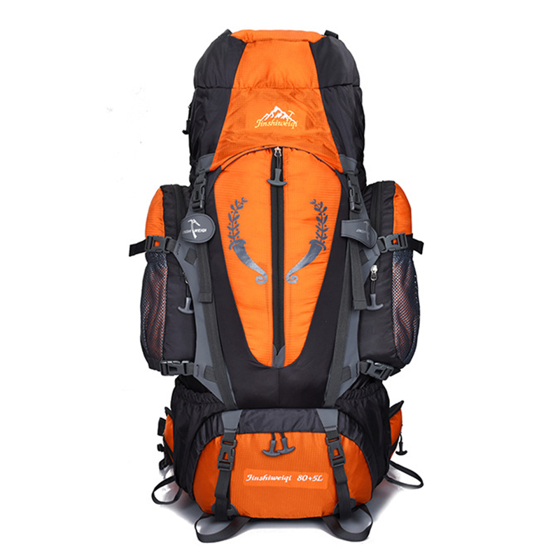 80L Travel hiking backpack Waterproof Outdoor climbing bag military Camping Sports mountaineering bag Tactical Trekking Rucksack