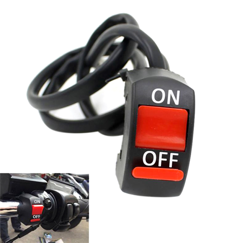 Universal 12V Motorcycle Handlebar Accident Hazard Light Switch On/Off Button