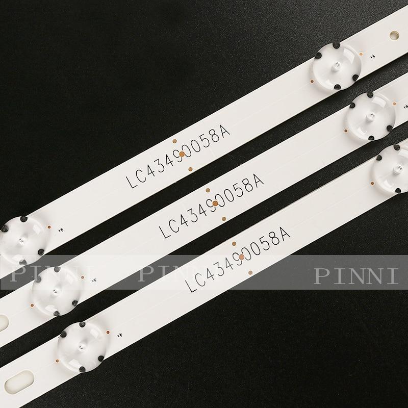 Nieuwe 15 PCS 7LEDs 830mm LED backlight strip voor LG 43UK6300PLB 43UJ634V 43LJ61_FHD_L LC43490059A LC43490058A Innotek 17Y 43inch_A
