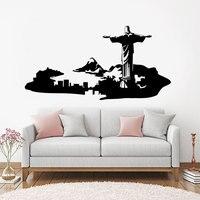 Pegatina de pared para sala de estar, vinilo extraíble, DIY, dormitorio, furgoneta, Brasil, E557