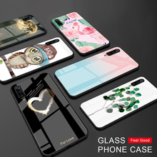 Glossy Glass Hard Phone Case For Xiaomi Redmi 7 7A 5 Plus No