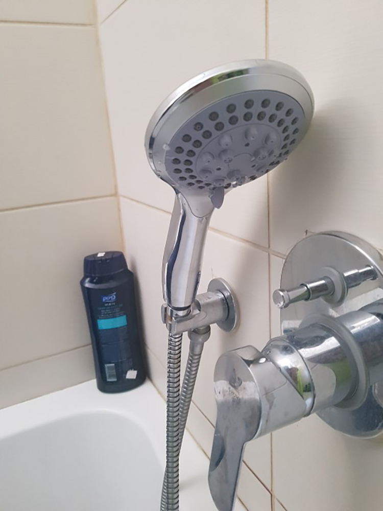 Shower-Head Water-Saver Abs-Plastic Bathroom G1/2 Chrome Round Rain 5-Modes Big-Panel
