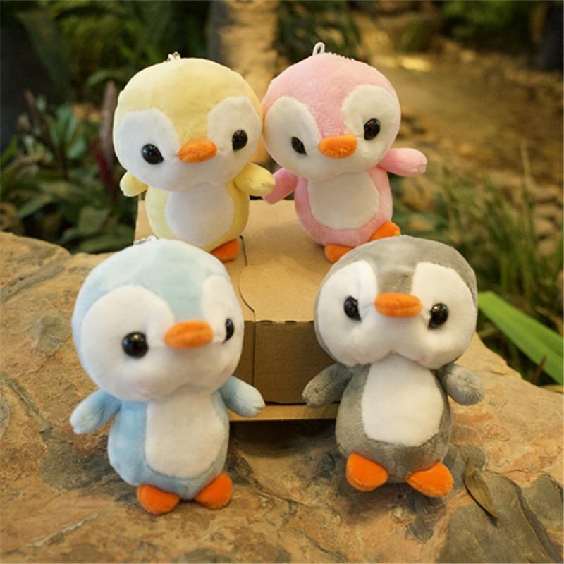 10cm Penguin Keychain  Plush Doll, Stuffed & Plush Animals Toys Penguin Plush Doll With 4 Color For Kids